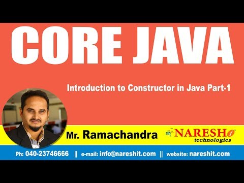 Introduction to Constructor in Java Part-1 | Core Java Tutorial