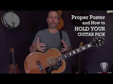 Proper Posture and How to Hold Your Guitar Pick