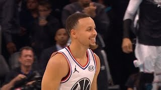 Stephen Curry Four Point Play on Klay Thompson - 2019 NBA All Star Game