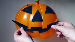 How To Make Halloween Pumpkin From Party Balloon at Home