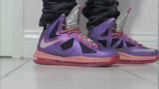 separation shoes e7538 3d005 Nike Lebron X All Star Area 72 In Depth On Feet Review HD