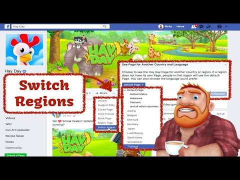 Hay Day - Facebook Page - How to Change the Region