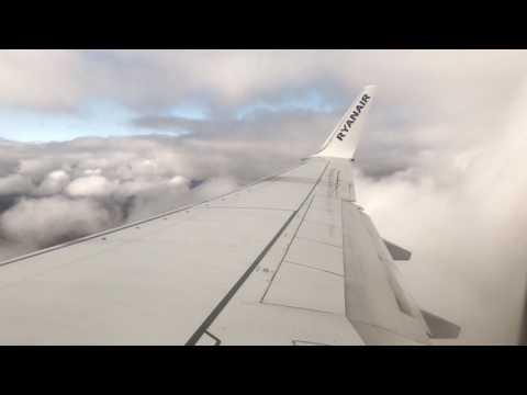 City of Derry airport to Glasgow international. Ryanair Boeing 737-8