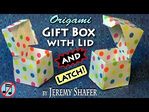 Origami Giftbox with Lid AND Latch! (no music)