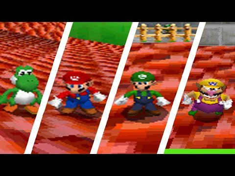 Super Mario 64 DS - How to get to the top of the castle as all characters w/h the cannon