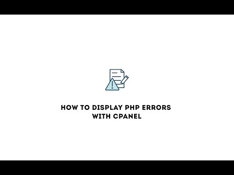 How to display PHP errors with cPanel