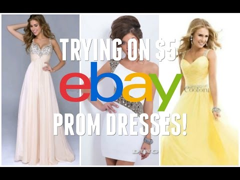 TRYING ON $5 EBAY PROM DRESSES - PART 2!