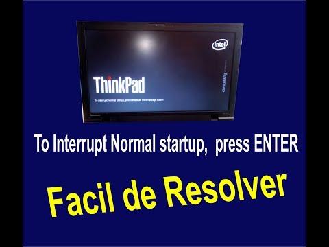 To Interrupt Normal startup,  press ENTER
