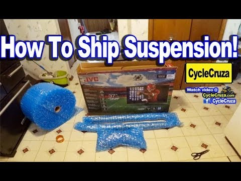 How To BOX Motorcycle Suspension To SHIP and Get Serviced