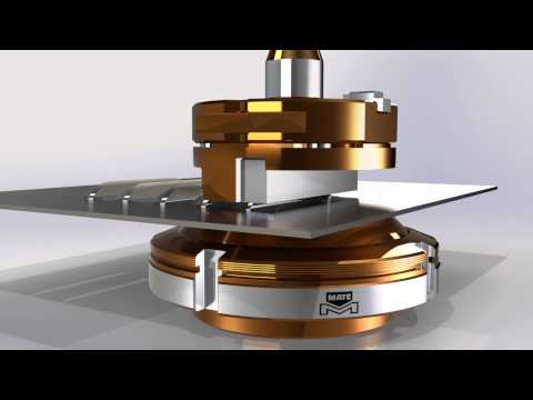 Forming a Closed End Straight Back Louver with Mate Precision Tooling