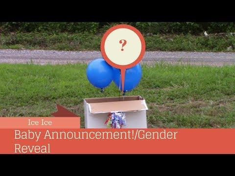 Ice Ice Baby Announcment/ Gender Reveal Video!