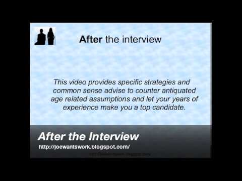 Job Interviewing Tips - After the Interview