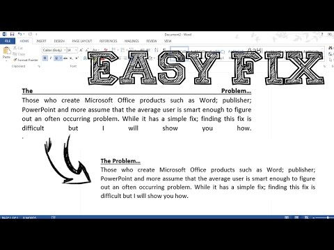 How To Remove The White Space / Gaps In a Justified Paragraph - Microsoft Office 2016