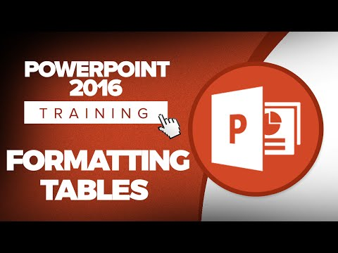 How to Format Tables in Microsoft PowerPoint 2016