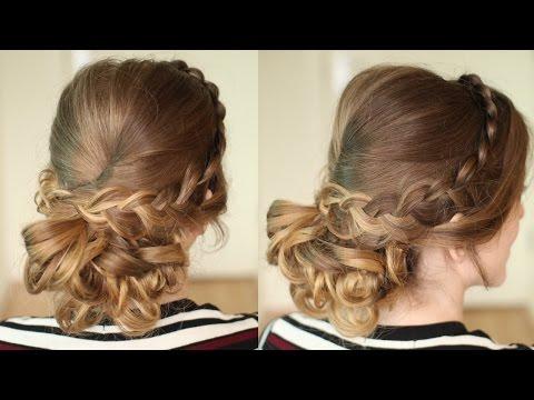 Curly Braided Bridal / Prom Updo | Bridal Hair | Braidsandstyles12