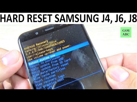 HARD RESET Samsung Galaxy J4, J6, J8 (2018)