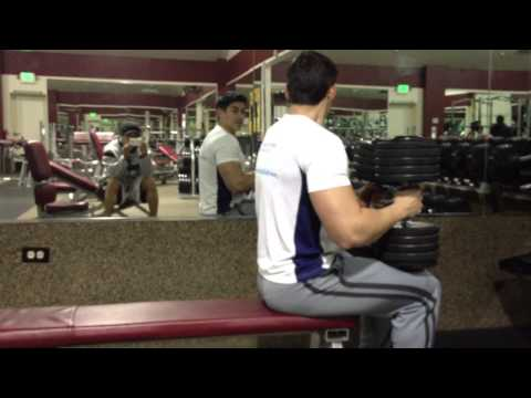 100 lb Dumbbell Chest Press before the end of the world