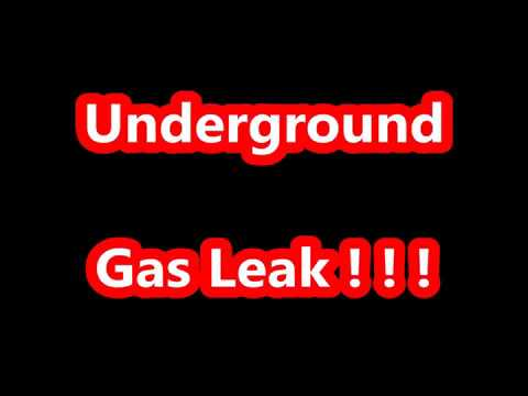 Underground Gas Leak.  Bubbles coming from ground