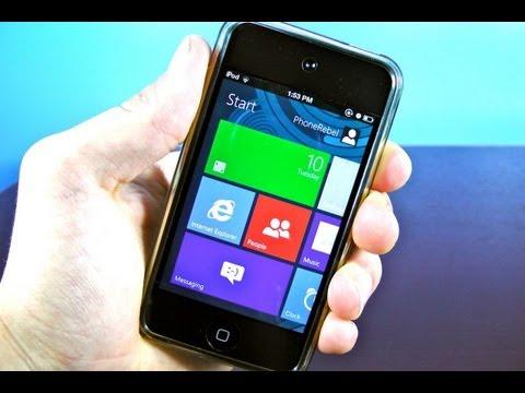 Windows 8 Metro UI on iPhone & iPod Touch - Metroon Theme for iOS 5.1.1/5.1/5.0.1/5.0
