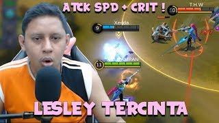 LESLEY JADI JOS PAKE ATACK SPEED + CRITICAL ! - Mobile Legends Indonesia