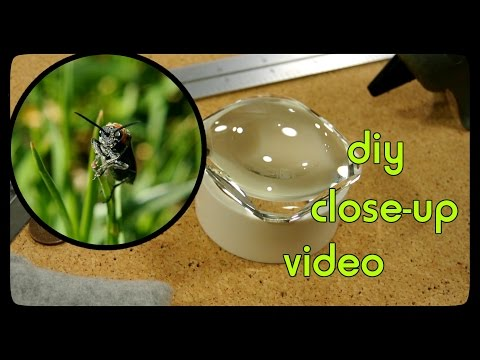 Video experiment: Homemade PVC macro lens