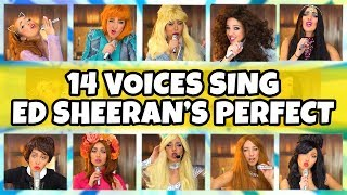 Perfect - Ed Sheeran & Beyoncé Cover (2018) in 14 Singers Voices. Totally TV