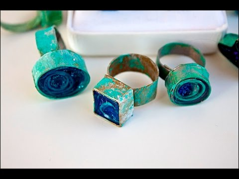 How to Make Paper Diamond Ring - Paper Made Origami Ring Tutorial