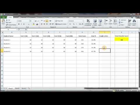 How to Calculate a Letter Grade for Students: MS Excel