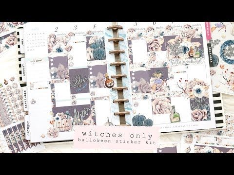 WITCHES ONLY Halloween Stickers | Plan With Me Sunday!