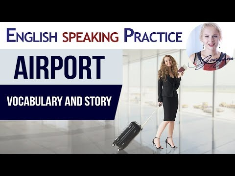 #047 Travel by plane in English | Airport Vocabulary Speaking Practice