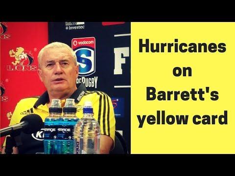 Hurricanes on Barrett's yellow card