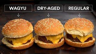 WAGYU Burger vs DRY-AGED Burger vs AMAZING Burger