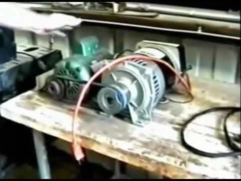 3000 Watt Generator Powers Itself, Grinder & Drill Press