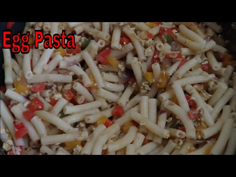 Egg Pasta Recipe - Indian style pasta recipe