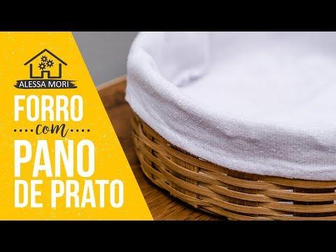 ⭐ COMO FORRAR CAIXAS E CESTOS COM PANO DE PRATO | DIY