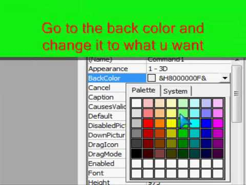 VB6Tutorial... How to Make a Command Button colourful