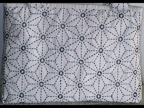 Sashiko Embroidery // Quilt Design Tutorial-11- For Very Beginners