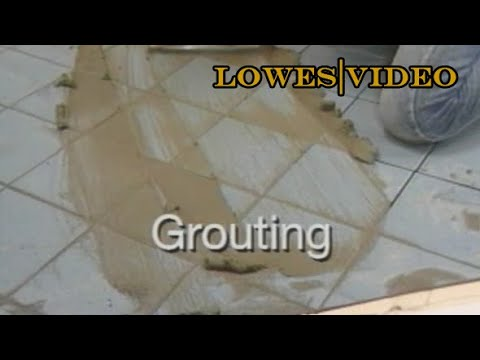 How to lay a tile floor: Grout the Joints and Clean the tiles
