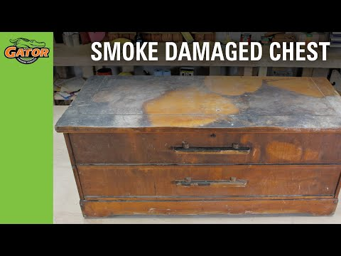 Project DIY Smoke-Damaged Chest