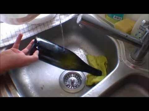 Wine Bottle cutting for DIY Window Garden - 070
