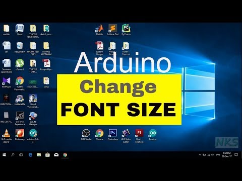 How to Change Font Size in Arduino IDE