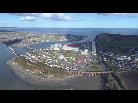 Montrose, Scotland, Aerial view