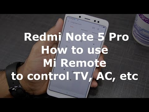 Redmi Note 5 Pro: How to use Mi Remote to control TV, AC, and other devices [Hindi]