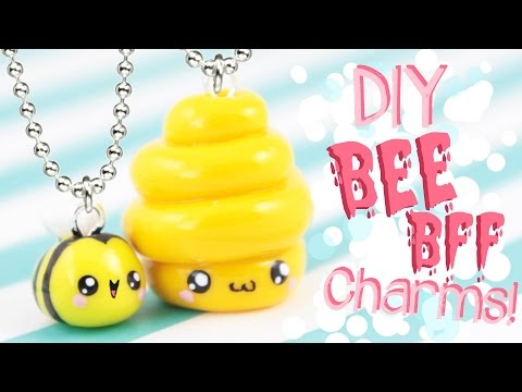 ♡ DIY Bee Friendship Charms! - In Polymer Clay ♡ | Kawaii Friday
