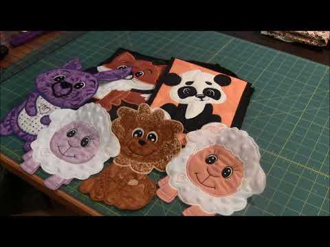 Cute Animal Applique - Machine Embroidery