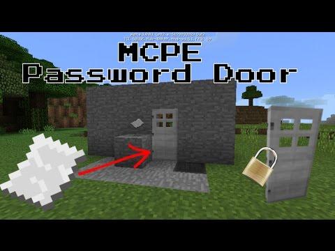 Minecraft PE: Password Door ||Redstone Tutorial