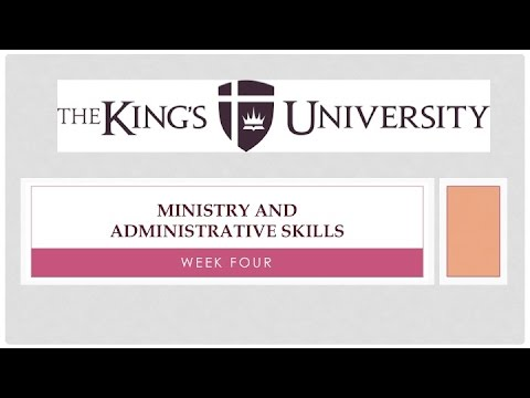 Ministry and Administrative Skills - Organizing Part 1