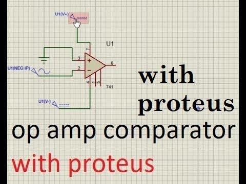 Operational Amplifier (Op Amp)  Comparator  Proteus Circuit Simulation
