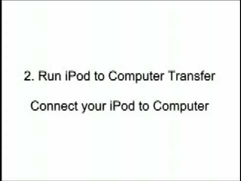 Transfer songs, videos, photos and playlists from iPod to computer.