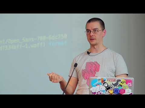 Peter Müller - High Performance Web Fonts    JSUnconf 2018